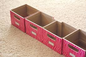 cardboard custom storage boxes howjoyful a lettering