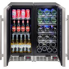 Beer Bottle Refrigerator Glass Door by 2 Zone Wine And Beer Underbench Glass Door Bar Fridge Combination