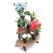 3 tier bronze etagere or corner plant pot garden display