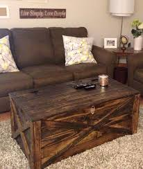 Rustic Chest Coffee Table Pallet Coffee Table Storage Chest 14 Creative Pallet