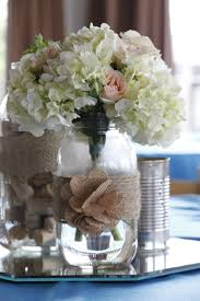 jar center pieces vintage hydrangea wedding centerpieces vintage jar