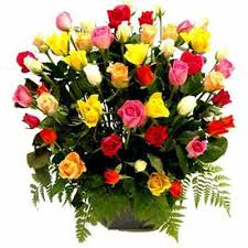 multi colored roses send gift philippines 24 multi colored roses basket
