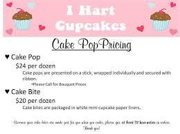 cake pop pricing bakery cake pop prices cake pop