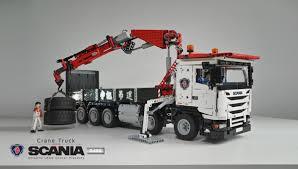 moc fully rc scania g480 crane truck 10x4 lego technic