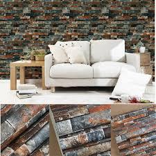 10m wood peel 3d wallpaper realistic barnwood brick rolls stone