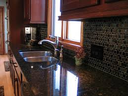 modern cherry kitchen glass tile backsplash designer kitchens la