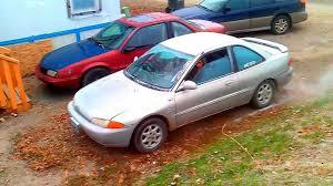mitsubishi mirage 1994 1995 mitsubishi mirage ls coupe with thrush glasspack drive by and