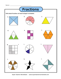 Adding Fractions Worksheets A Fraction Worksheet Super Teacher Worksheets Pinterest