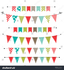 halloween card transparent background christmas banner bunting flags on transparent stock vector