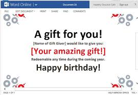 best gift certificate templates for word online