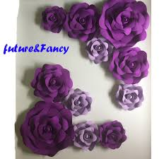 Wedding Backdrop Background Online Shop 11pcs Giant Foam Paper Flowers Mix Lilac Purple For