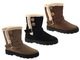 womens quilted boots uk womens fur lined quilted comfort ankle boots