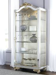 display cabinet with glass doors curio cabinet detolf glass door cabinet black brown 0259486
