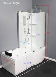 whirlpool shower combo showers decoration l90s45 w right whirlpool massage tub shower combo luxury 1 849 00
