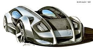 concept car sketch 4 by rykunov on deviantart