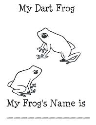 chuck art coloring sheet poison dart frog