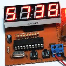 membuat jam digital led besar membuat jam digital sederhana 4 digit 7 segmen dengan satu ic