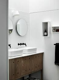 Compact Bathroom Vanities by Compact Bathroom Vanity In Wood With Stone Top And Twin Sinks