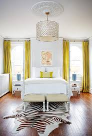 Yellow Bedroom Curtains White Bedroom With Canary Yellow Curtains Contemporary Bedroom