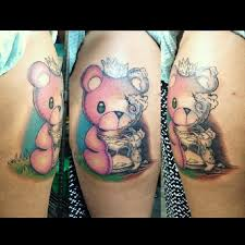 teddy bear tattoo on biceps photos pictures and sketches