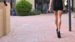 Short Skirts High Heels Black 15 Cm High Heels Combined With Short Skirts Of The Same