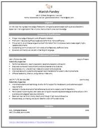Supervisor Resume Sample Free by Example Template Of An Excellent Computer Science Engineer
