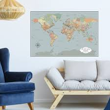 paper anniversary gift push pin world map paper anniversary gift color options