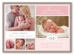birth announcements scripted introduction 6x8 baby girl birth announcement cards