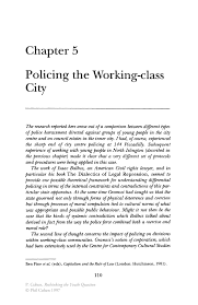sample article review essay policing the working class city springer inside