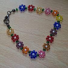 make bead flower bracelet images Beaded and flower and bracelet bracelets jewelry PNG