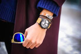 mens watches with bracelet images Trend to wear bracelet and watch together on same wrist for men jpg