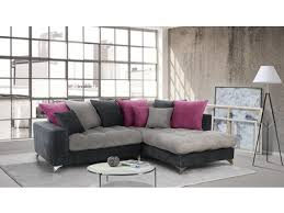 basika canapé canapé d angle à droite corfu gris clair gris foncé