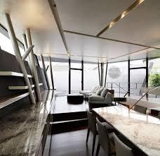 srk home interior angular black walls fold around srk house by artechnic
