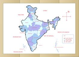 Map Of Usa Capitals by How To Draw The Map Of India With Pictures Wikihow