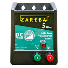 5 mile battery operated solid state fence charger zareba edc5m z