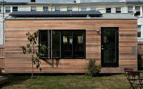 micro homes tiny house with projector tv insidehook