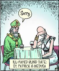 St Patricks Day Memes - old world problems irish catholic medusa and saints