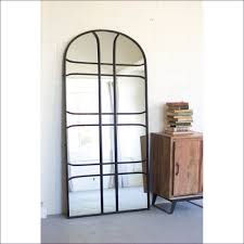 Beveled Floor Mirror by Furniture Awesome Arch Mirror Cathedral Mirror Grey Floor Mirror