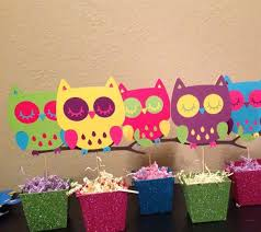 owl centerpieces project center owl babyshower centerpieces
