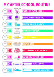 printable evening schedule after school and evening routine schedule template for kids v m d com