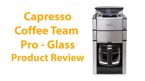 Coffee Makers With Grinders Built In Reviews Capresso Coffeeteam Pro 12 Cup Coffee Maker Review Youtube
