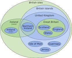 British Isles Map Great Britain Vs United Kingdom Vs England Map Google Search