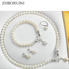 pearl bow necklace images Zhboruini pearl jewelry sets jpg