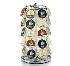 Backpack Rack For Home 35 K Cup Carousel For Keurig Coffee Pods U2013 Chrome U2013 Nifty Home