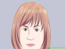 haircut for big nose 4 ways to hide a big nose wikihow