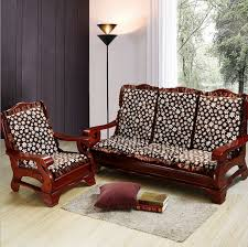 Sofa Seat Cushion Slipcovers Wooden Sofa Cushion Covers Lifeestyle Mango Wood Sofa With Cushion
