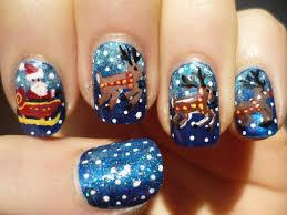 santa sleigh and reindeer nail art christmas tutorial youtube