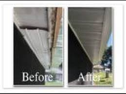 diy leaking aluminum patio roof gutter replacement youtube