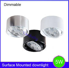 5w dimmable led ceiling light surface mounted indoor led lights