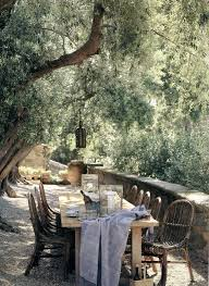 Backyard Dining by John Saladino A Passion For Lavender Outdoor Dining And Villas